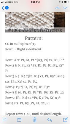 Embossed Diamonds Knit Stitch Easy Knitting Patterns, Knitting Charts, Lace Knitting, Knitting Projects, Crochet Stitches Patterns, Knitting Stitches, Crochet Wool, Guernsey, How To Purl Knit