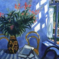 "Marc Chagall - ""Interior With Flowers"" - 1918."