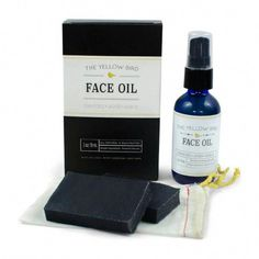 Face Oil Moisturizer & Cleansing Set - The Yellow Bird - Made in USA #SaltFaceScrub Charcoal Face Soap, Natural Charcoal, Vitamin E, Anti Aging, Serum, Dry Sensitive Skin, Dry Skin, Best Skincare Products, Face Oil