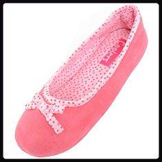 Damenschuhe/Slippers mit unverstärkter Sohle, Pink, 38.5 EU - Hausschuhe für frauen (*Partner-Link)