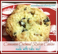 Oatmeal cookies made with cake mix - The Coers Family
