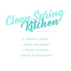 Clean Spring Kitchen | Diffuser Blend | Essential Oil Diffuser Blend | Diffuser Recipe | Essential Oil Diffuser Recipe | Millennioils.com