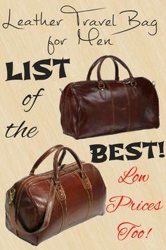 A genuine Leather Travel Bag for Men speaks of elegance 61e7fbf3ea409