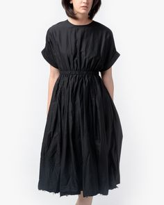 Mohawk - Pleated Dress in Black - http://www.mohawkgeneralstore.com/products/pleated-dress-in-black