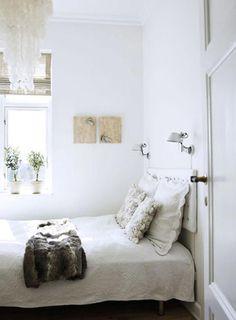 Kleine slaapkamer….schelpenlamp