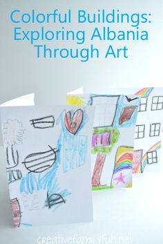 Explore the world through art! This simple project was inspired by the colorful buildings in Tirana, Albania.
