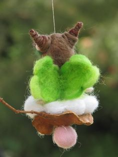 Needle felted Waldorf inspired Mobile Ornament Little magic