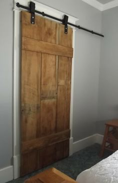 The Olde Farmhouse on Windmill Hill: Sneak Peek ~ DIY Barn Door {another master bedroom project complete}