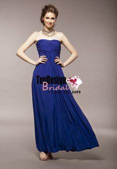 Wholesale Vestidos De Fiesta 2017 Brand New Evening Party Gown Ruffle Royal Blue Chiffon Prom Dresses