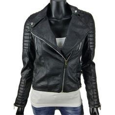 Kunstleer dames bikerjack van Voyelles 3B069 in zwart  35-  Online: www.dannyschoice.nl  En in de winkel: #Beverwijk   #fashion