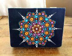 MANDALA hand painted BOX, mandala art, wooden box, hand painted mandala