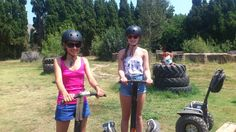 Funny route with these two charming girls: Niamh & Louise.  Segway X2, Ocitània, Gualta, Girona, Costa Brava, Empordà, Catalonia, Spain. www.ocitania.cat
