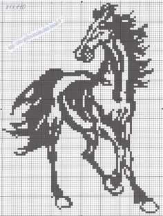 Free schemes for cross stitch horses