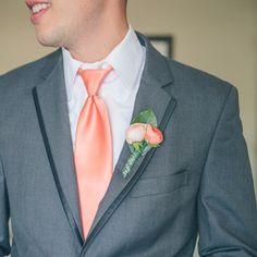 Pink Wedding Boutonnieres