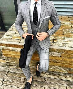 Black and brown designer suits for fashion men. mens slim fit suits designer, mens designer suits on sale, Press VISIT link above for more options Best Suits For Men, Cool Suits, Suit For Men, Terno Slim Fit, Suit Combinations, Blue Suit Men, Grey Suits, Mode Costume, Designer Suits For Men