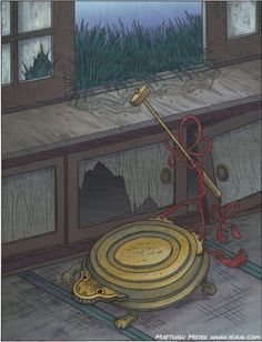 Shogoro- Japanese myth: a miniature gong that came to life after 100 years.
