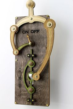 スイッチを「ON」にすると....(笑)。〜Toggle Light Switch Plate. $39.95, via Etsy.