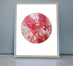 VENUS - Pink, Gold, Red, White Moon/Planet Art Print 8X10, 11X14 by PrettyPaperPlaceShop on Etsy Red Gold, Pink And Gold, Red And White, Pink Moon, A5, Venus, Planets, Window, Tapestry