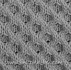c4f = (cable 4 front)- slip 2 stitches to a cable needle and hold at the front of the work, knit 2, then knit the 2 stitches from the cable ...