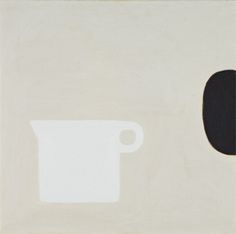 William Scott, Jug White on Ivory, 1978, Oil on canvas, 50.8 × 50.8 cm / 20 × 20 in, Beaverbrook Art Gallery, Fredericton, NB, Gift of Roy L. Heenan, OC