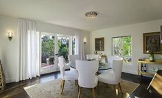 Kishani Perera - dining rooms - dining room, crystal drops chandelier, crystal drops flush mount, round dining table, glass top dining table...