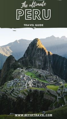 This complete Peru travel guide will show you how to travel to Peru adventurously and safely, with tips on transport, treks and sightseeing highlights. Peru | Peru travel | Peruvian food | Machu Picchu | Rainbow Mauntains | Cuscu |  #travel #peru #southamerica #machupicchu #travelideas #inca Travel Route, Peru Travel, Hawaii Travel, Italy Travel, South America Travel, Best Hikes, Travel Guides, Travel Tips, Viajes