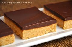 You could make these any time, but peanut butter cup bars were always part of our Christmas baking.