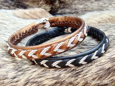 Sami Lapland Swedish Bracelet ODIN Womens and Mens Bracelet in Bronze Leather with Antler Button - Custom Handmade High Fashion from Tjekijas.