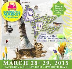 Plan your fun shopping weekend at #RandolphStreetMarket #Chicago! March 28+29, 2015 at 1340 W Washington, Chicago! 10am-5pm both days. Eat and drink while shopping 100 vendors of Antiques, Vintage, Food, Handmade and Global Goods! www.randolphstreetmarket.com #shopping #weekend #Westloop #shop #market #Fleamarket