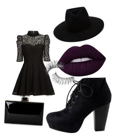 """""""funeral"""" by oliviasjstad on Polyvore featuring Mairi Mcdonald, rag & bone, Lime Crime and Trish McEvoy"""