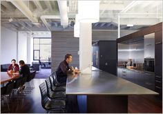 Our office in Chicago - Basecamp Office Themes, Office Decor, Office Ideas, Office Interior Design, Office Interiors, Office Designs, Cafe Concept, Chief Architect, Workspace Inspiration