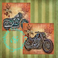 Sportster Motorcycles Art  Digital Collage by SaguaroGraphics, $4.50