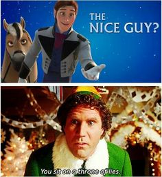 Yesss this is so funny. Frozen + Elf