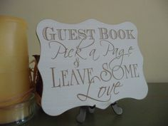Wedding Guest Book Sign Pick A Page Guest Book Wedding by Crafu