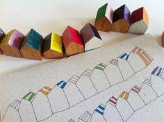 """Carte """"Les petites cabines.""""© Papillon*Papillonnage"""