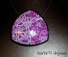 NaYeTi bijoux, polymer clay mokume gane pendant.