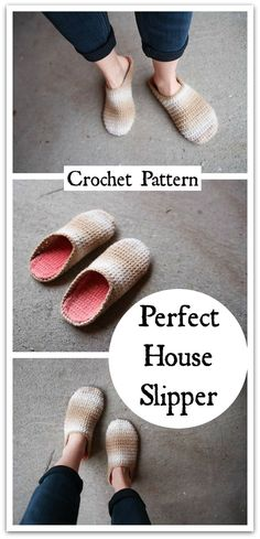 These are such an easy and fun project. They fit great, work up fast and make a great gift. They come with optional bunny ears too! Booties Crochet, Knitted Slippers, Crochet Slippers, Crochet Crafts, Crochet Yarn, Yarn Crafts, Free Crochet, Yarn Projects, Crochet Projects