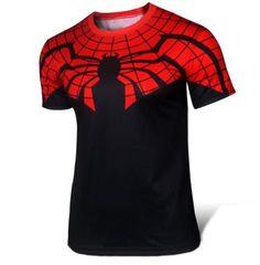 2016 t-shirt Superman/Batman/spider man/captain America /Hulk/Iron Man / men's fitness shirts Super Hero Shirts, Black Spiderman, Batman Spiderman, Trendy Fashion, Mens Fashion, Style Fashion, Skinny Fashion, Superman T Shirt, Inspiration Mode