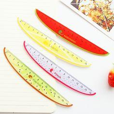 15 cm Kawaii Lindo Regla De Plástico Regla Para Niños Estudiante Artículo de La Novedad Creativa de la Fruta de Corea Papelería Gratuito 1607