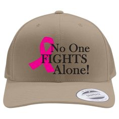 No One Fight Alone Retro Trucker Hat