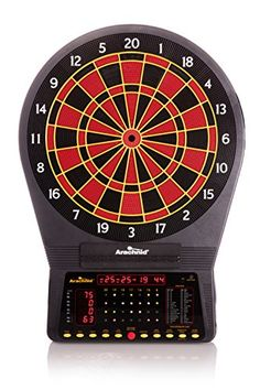 Arcade Style Dart Board Cabinet with Cricket Pro 650