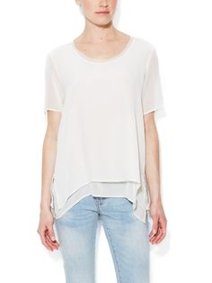 Silk Double Layer Top from Gold Hawk on Gilt
