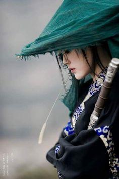 Samurai girl by mr. Asian Woman, Asian Girl, Samurai Art, Female Samurai, Samurai Warrior, Asian Style, Belle Photo, Japanese Art, Japanese Sleeve