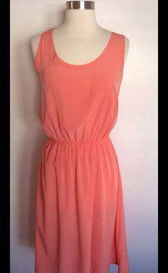 Silk peach dress with straw hat & sandals.. Simply Summer