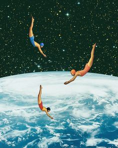 Space jumps por Mariano Peccinetti    www.facebook.com/CollagealInfinitowww.society6.com/Trasvorderwww.instagram.com/marianopeccinetti