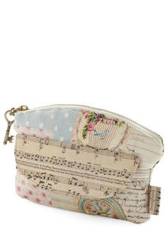 Note-worthy Makeup Bag- I'm kinda getting into the shabby-chic retro thing, but this is awesome anyway cuz it has music notes on it!