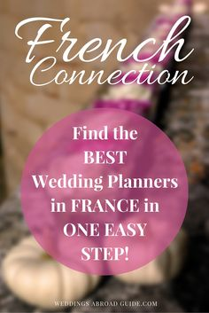 WEDDING PLANNERS - Looking for a great wedding planner in France to help you organise your wedding abroad - Find destination wedding planners in one simple step. http://www.weddingsabroadguide.com/wedding-planners-in-france.html