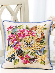 Needlework Plastic Canvas - Spring Butterflies Cross Stitch Pattern - #VX00216