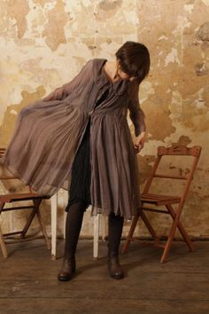 non violent silk hand dyed linen silk velvet eco cotton slow fashion artisanal layered look..