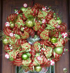 Deluxe Deco Mesh WHIMSICAL CHRISTMAS WREATH 25""